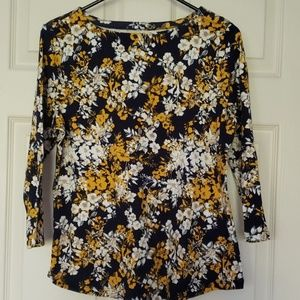 3/4 sleeve blouse 100% cotton New!
